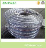 Boyau spiralé de pipe de HDPE d'irrigation de boyau renforcé par plastique de débit industriel de tube de fil d'acier de PVC