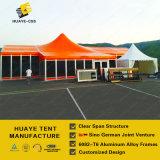 オレンジPVCファブリック(hy007g)が付いている高い最高にされた商業玄関ひさしのテント