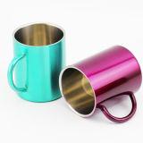 Le double mure la tasse de café de la tasse de café de la tasse de café d'acier inoxydable 220ml 300ml