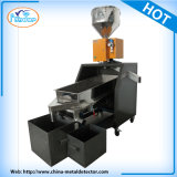 Máquina de separador de detector de metais com correia transportadora on-line