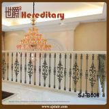 Barreira de escada de alumínio de fundição decorativa (SJ-B008)
