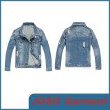 Nouvelle Mode cassé hommes denim manteau déchiré (JC7040)