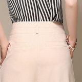 Le pantalon large de patte de taille droite desserrée de Hight de l'été des femmes a cultivé le fournisseur d'OEM de pantalons dans Guangzhou
