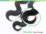 100% humano virginal brasileño humano de la armadura del pelo en onda floja