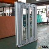 Finestra di scivolamento di profilo di UPVC con la rete dello scassinatore dell'acciaio inossidabile, finestra di UPVC, finestra del PVC, finestra K02087
