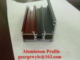 Profil en aluminium d'extrusion de section en aluminium de bâti pour des portes et Windows