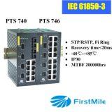 Гигабит IEC61850-3 выдвинул управляемый промышленный переключатель локальных сетей
