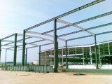 Almacén prefabricado de la fábrica de la estructura de acero con la grúa (casa prefabricada vertida)
