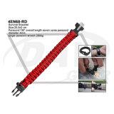 25.5X2 Cm Supervivencia pulsera roja con arrancador de fuego (4EN68-RD)