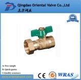 Vávula de bola de cobre amarillo aprisa conectada de la alta calidad ISO228 2 pulgadas para el agua
