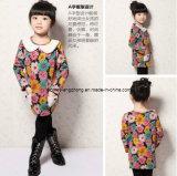 Мода детей одежду со дня рождения платья для девочек при печати цветок