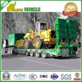 80t Lowbed/niedrig Plattform-niedriger Ladevorrichtungs-Ladung-halb LKW-hydraulischer Schlussteil