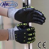 Nmsafety TPR швейных воздействие и устойчивость защитные рукавицы техники безопасности
