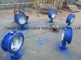 Места металла типа 150lb/300lb ANSI Wcb 3 смещенных клапан-бабочки