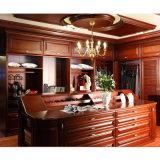 gabinete de cocina de encargo de madera de la cereza del estilo de 2015welbom Ameican