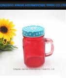 Kies de Gekleurde Jampot van de Metselaar van het Glas met Handvat uit