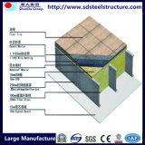Casa pré-fabricada de construção da construção de aço do frame da luz da extensão larga de ISO&Ce