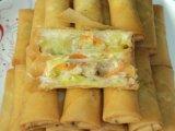 Croquettes chinoises oblongues fabriquées à la main du légume 20g/Piece Cylinderical de 100% congelées par IQF