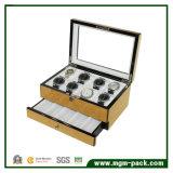 Armazenamento do Compartimento Multi Caixa de relógio de madeira