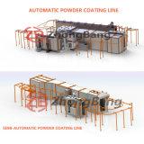 Revêtement en poudre automatique de haute qualité de ligne de production pour roue de voiture