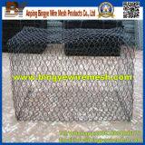 Caja de Gabion/cesta de Gabion (galvanizada y PVC cotaed)