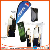 Флаг Backpack печатание полиэфира напольный для рекламировать
