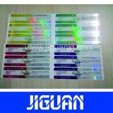 Venta caliente 10ml frasco etiquetas holográficas, Holograma etiqueta Vial Vial, las etiquetas de medicina