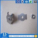 Clips recto de câble métallique d'acier inoxydable