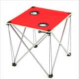 Для использования вне помещений Сверхлегкий портативный красный Оксфорд ткань складного стола