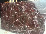 Pulido de mármol rojo de China Rosso Levanto para Baldosas y losas de la encimera