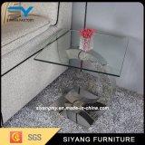 新しい設計事務所の緩和されたガラスの金属の足の側面のコーヒーテーブル