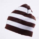 Chapeau d'hommes de Beanie de passe-montagnes tricoté par jacquard extérieur de casquette de baseball de l'hiver