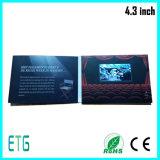 Het Ontwerp van de douane LCD van 4.3 Duim Boek van de Uitnodiging van de Bevordering van het Scherm het Video