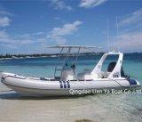 Bateaux gonflables inférieurs rigides de côte de bateaux de Liya 20FT/6.2m de touristes
