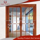 La madera de la serie 120 en busca de aleación de aluminio puerta corrediza de vidrio