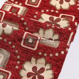 Ткань синеля полиэфира краски пряжи цвета домашнего тканья Shaoxing красная 100% закрученная