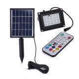 Solarflut-Licht 20 LED-RGB mit Fernsteuerungs für Garten-Rasen-Landschaftsdekoration