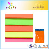 Papel fluorescente nas cores de néon