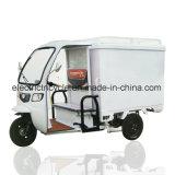 350kg積載量の電気60V800W三輪車のローダーの人力車