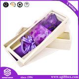 Contenitore di carta impaccante di fiore del quadrato del regalo di struttura di stampa su ordinazione di lusso
