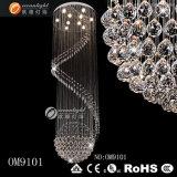 Base de acero inoxidable K9 lámpara colgante de cristal (OM9101)