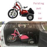 電気移動性のスクーターを折るOEMの製造業者の卸売3の車輪