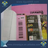 Customized High Quality Invisible Number Embossing Pattern Hot Stamping Hologram UV Security Printing Ticket