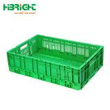 Het plastic Vouwbare Krat van de Groenten van Vruchten voor Landbouwbedrijf en Opslag