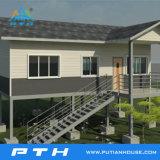 2017 Prefabricated 호화스러운 모듈 살아있는 건물로 가벼운 강철 별장 집