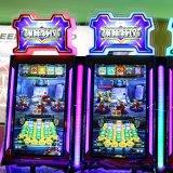 Более привлекательная монетка привелась в действие машину игры лотереи выкупления занятности нападения робота для сбывания