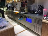 Trois portes Commercial acier inoxydable réfrigérateur congélateur banc pour un café ou l'hôtel cuisine (GN3100BT)