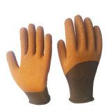 La Chine de gros de la mousse de latex 3/4 Shell polyester enduite Gant de travail de la sécurité, de la main des gants