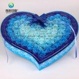 Resistente al agua en forma de corazón personalizadas de flores de papel impresas Embalaje