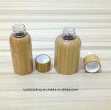 Conteneur de cosmétique de bambou bouteille en plastique